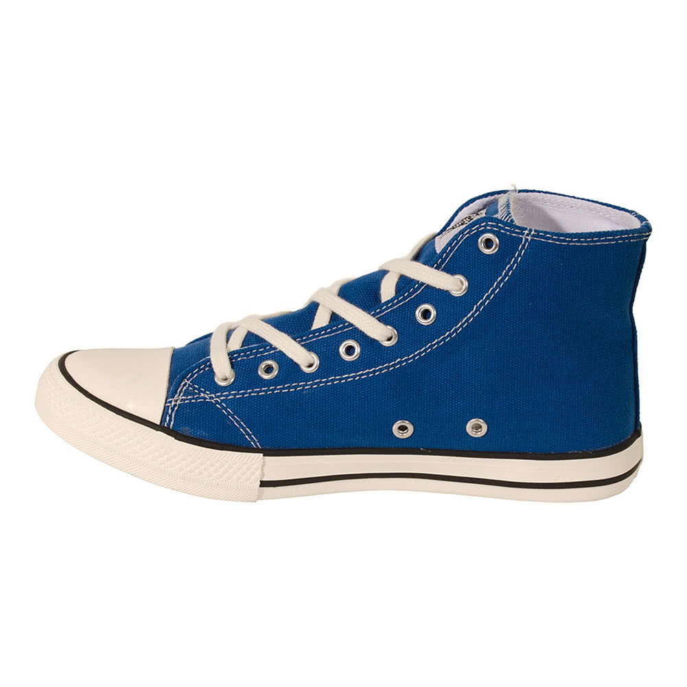 Bleeding Heart Canvas Logo Hi Tops (Blue)