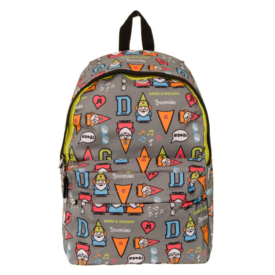 David & Goliath Gnomes Backpack (Grey)