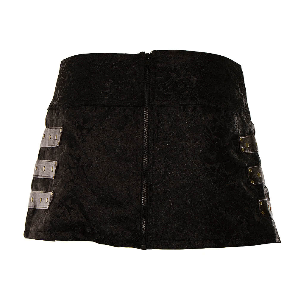 Burleska C-Lock Steampunk Mini Skirt (Black)