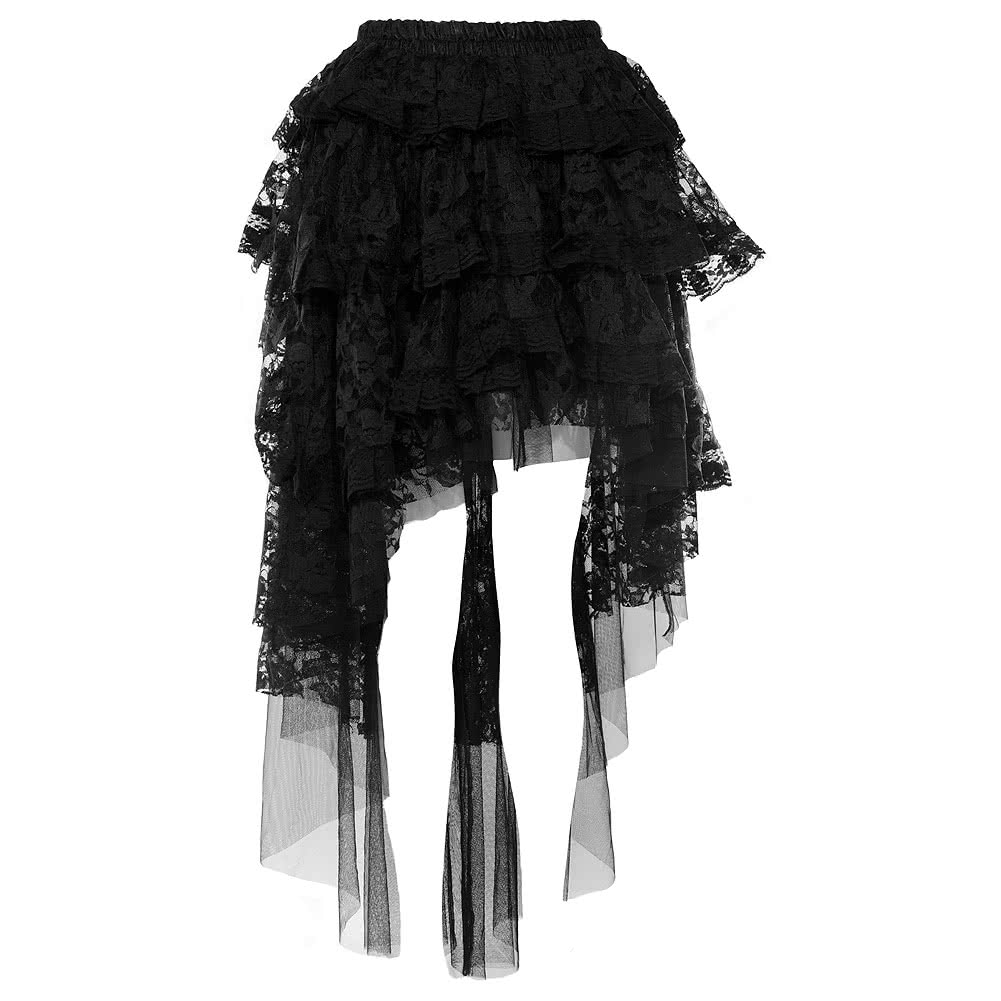 Burleska Ophelie Lace Skirt (Black)