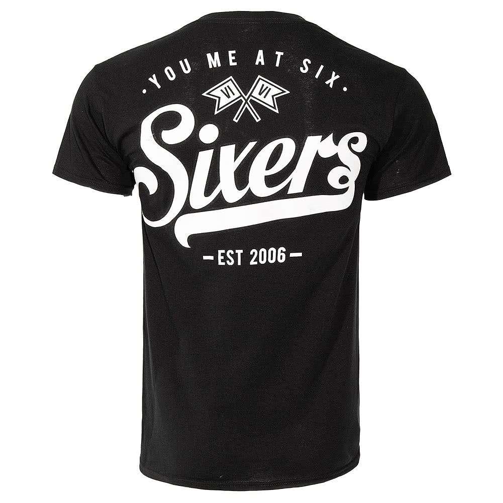 You Me At Six Sixers T Shirt (Black)
