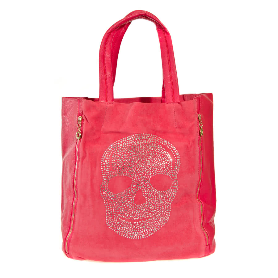 ... Accessories » Handbags » Blue Banana Skull Shopper Bag (Plum