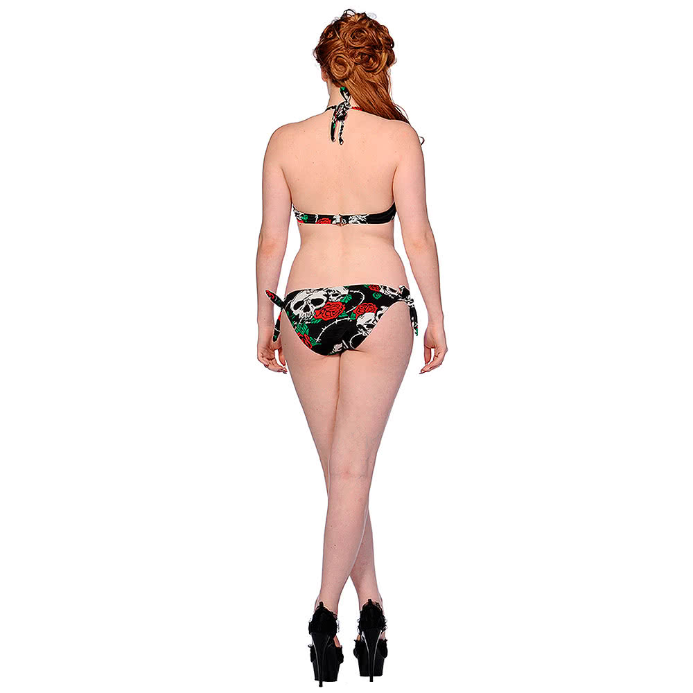 Banned Rose Skull Bikini (Black)