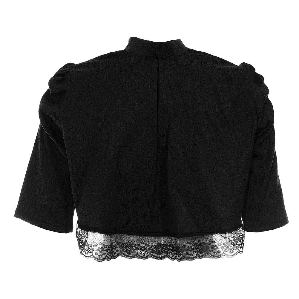 Golden Steampunk Victoria Lace Bolero (Black)