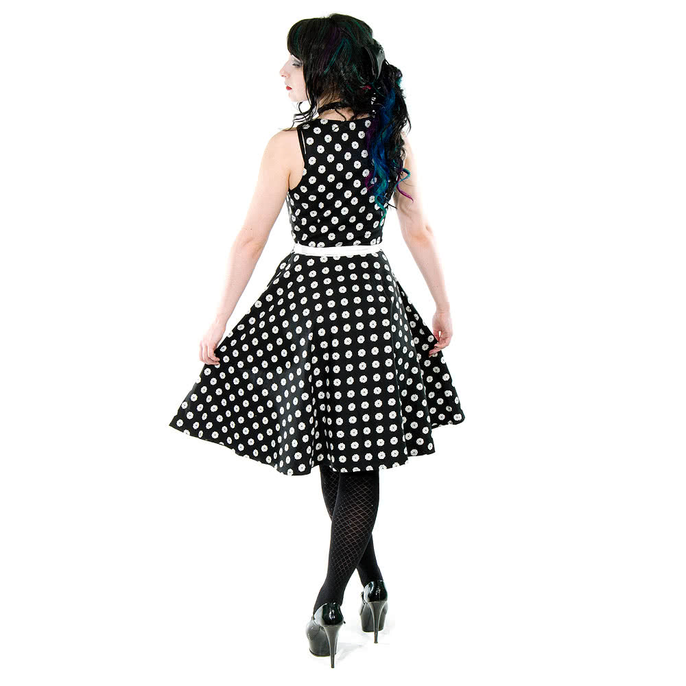 Voodoo Vixen Arlene Dress (Black/White)