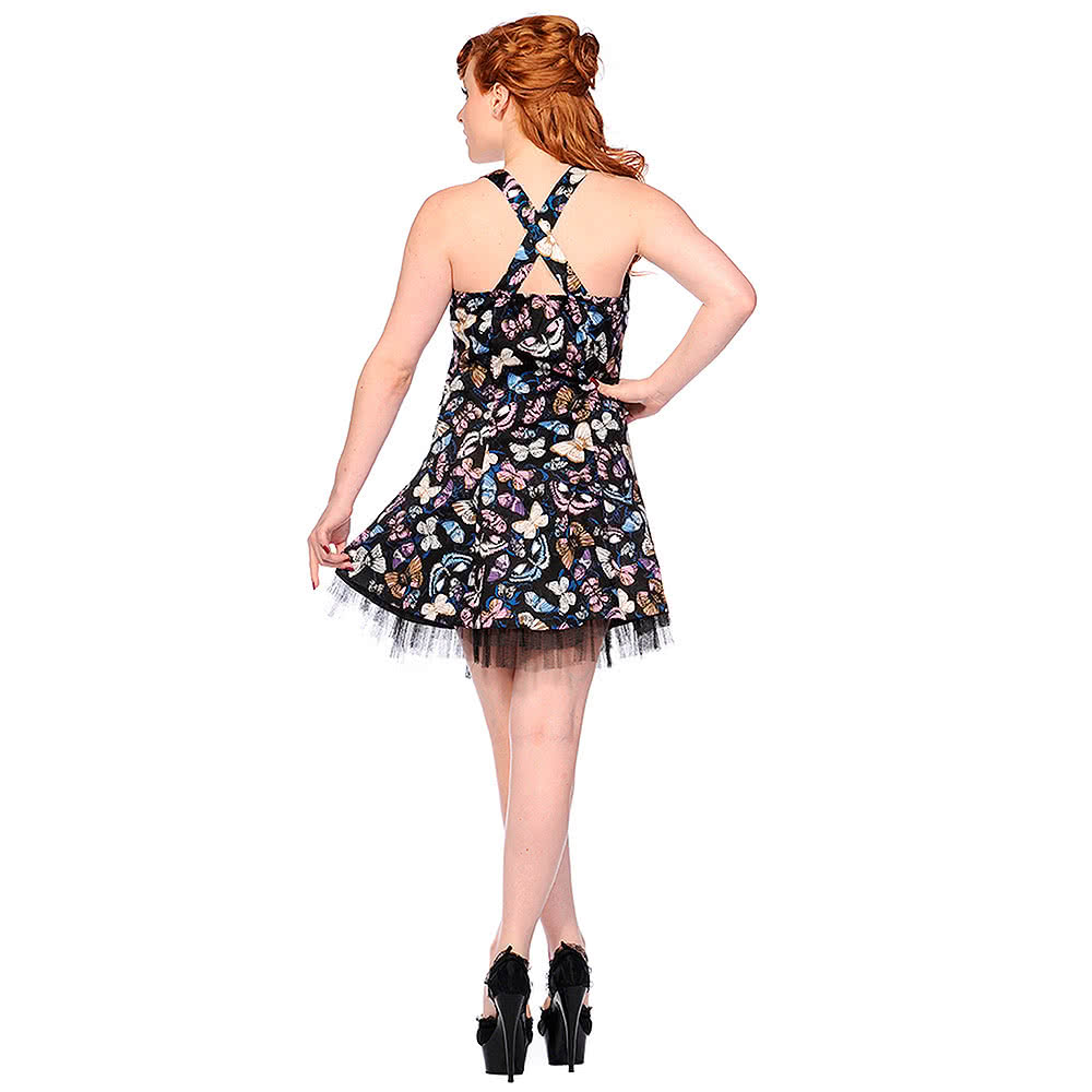 Banned Butterflies Dress (Multi-Coloured)