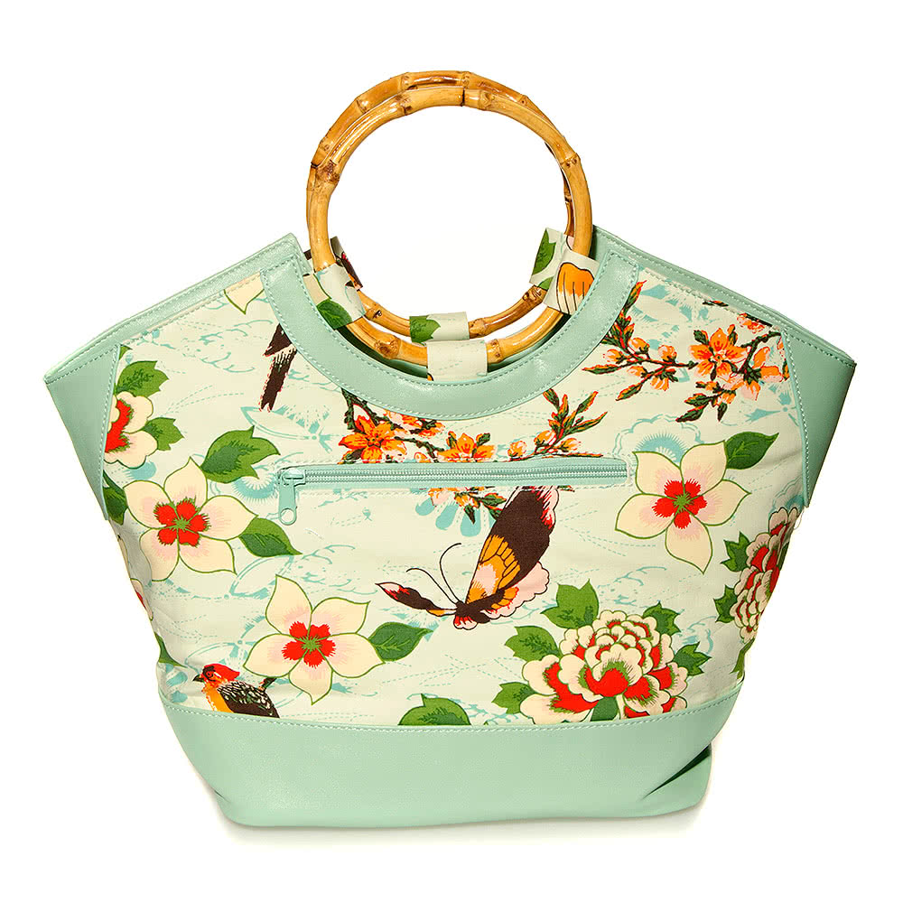 Banned Oriental Tote Bag (Green)