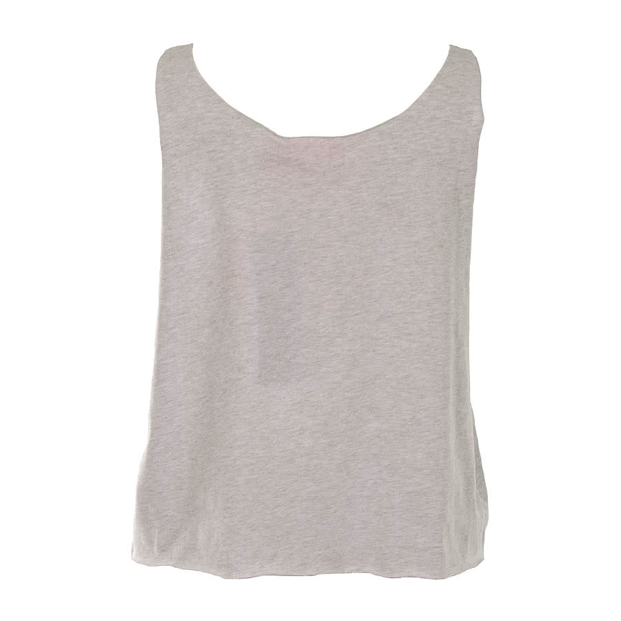 Pineapple Raw Crop Vest Top (Grey)
