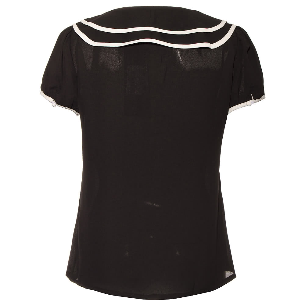 Voodoo Vixen Bow Top (Black/White)