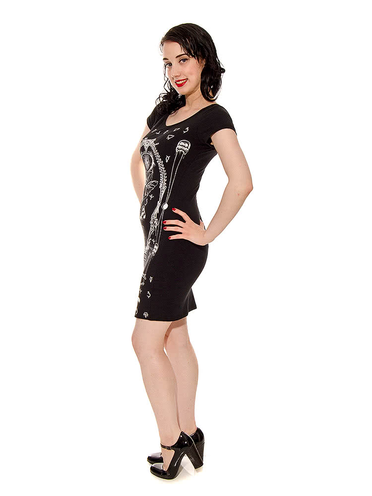 Jawbreaker Bugs & Skulls Dress (Black)