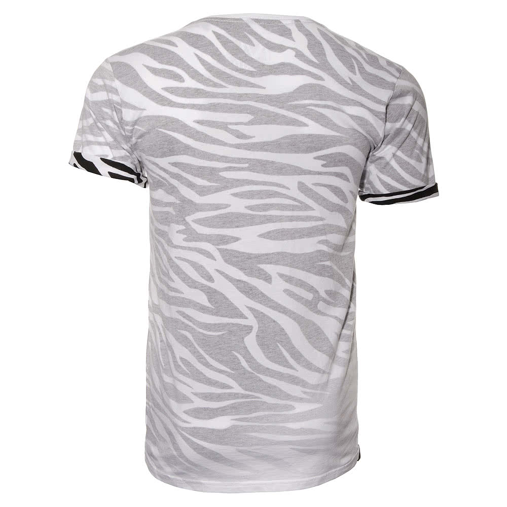 Monochrome Zebra T Shirt (White)