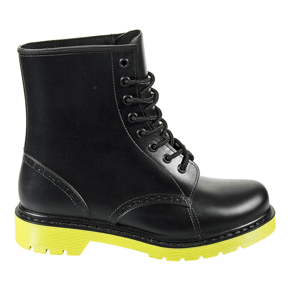 Blue Banana Jelly Boots (Black/Yellow)