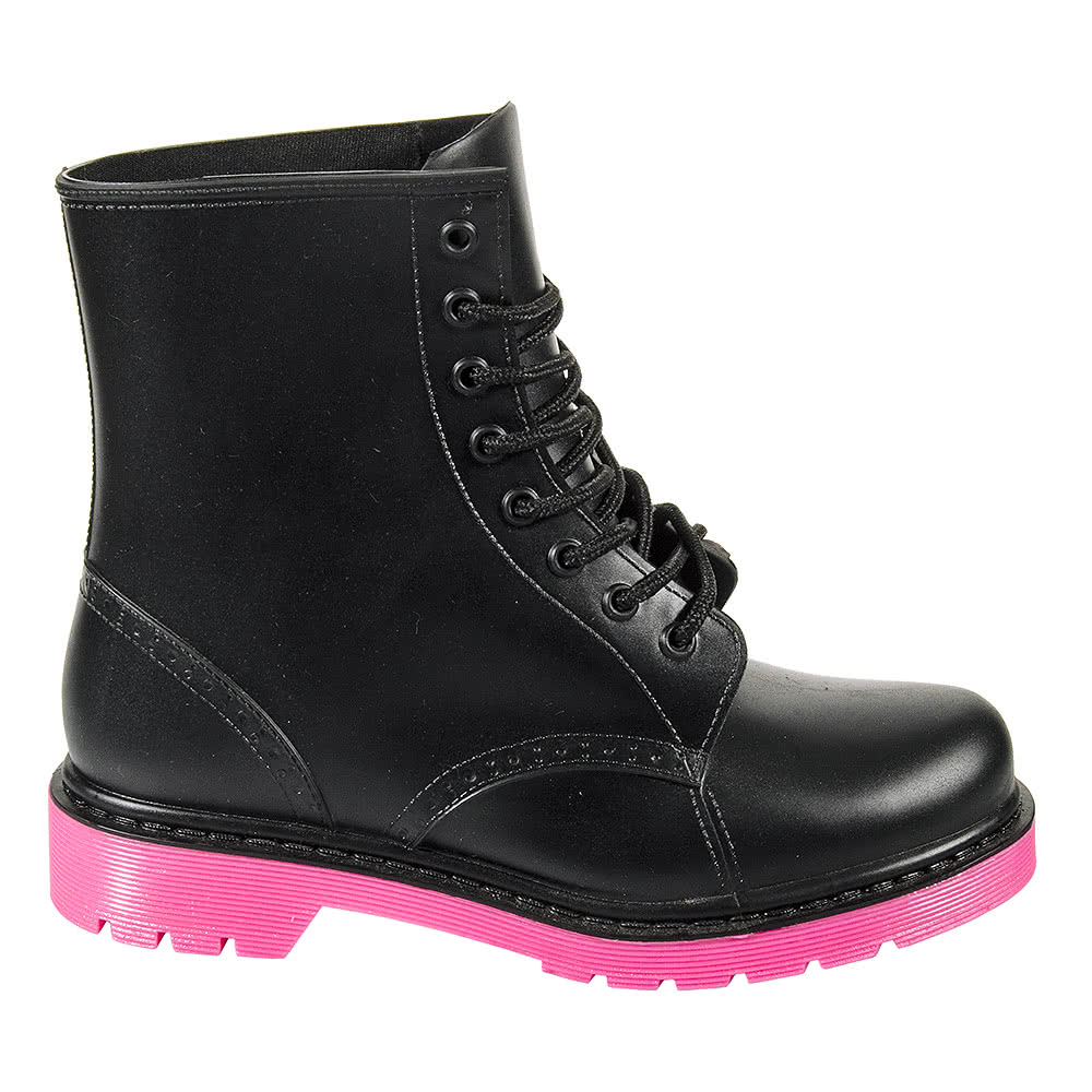Blue Banana Jelly Boots (Black/Pink)