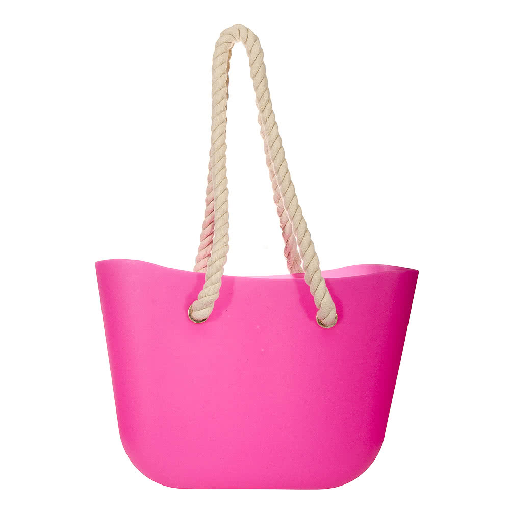 Blue Banana Jelly Beach Bag (Hot Pink)