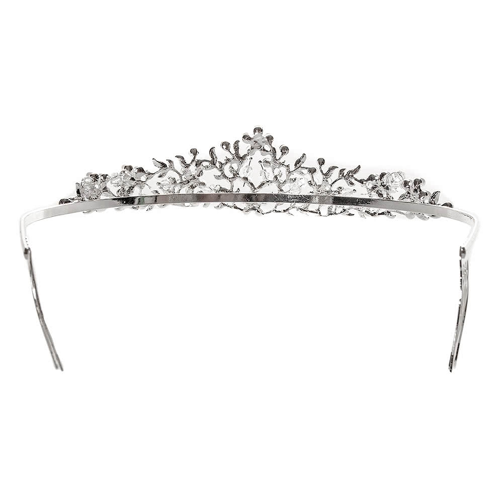 Blue Banana Pearl & Crystal Flower Tiara
