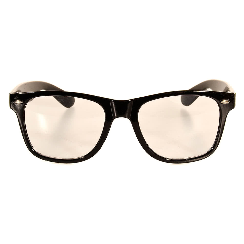 Blue Banana Check Geek Glasses (Black/White)