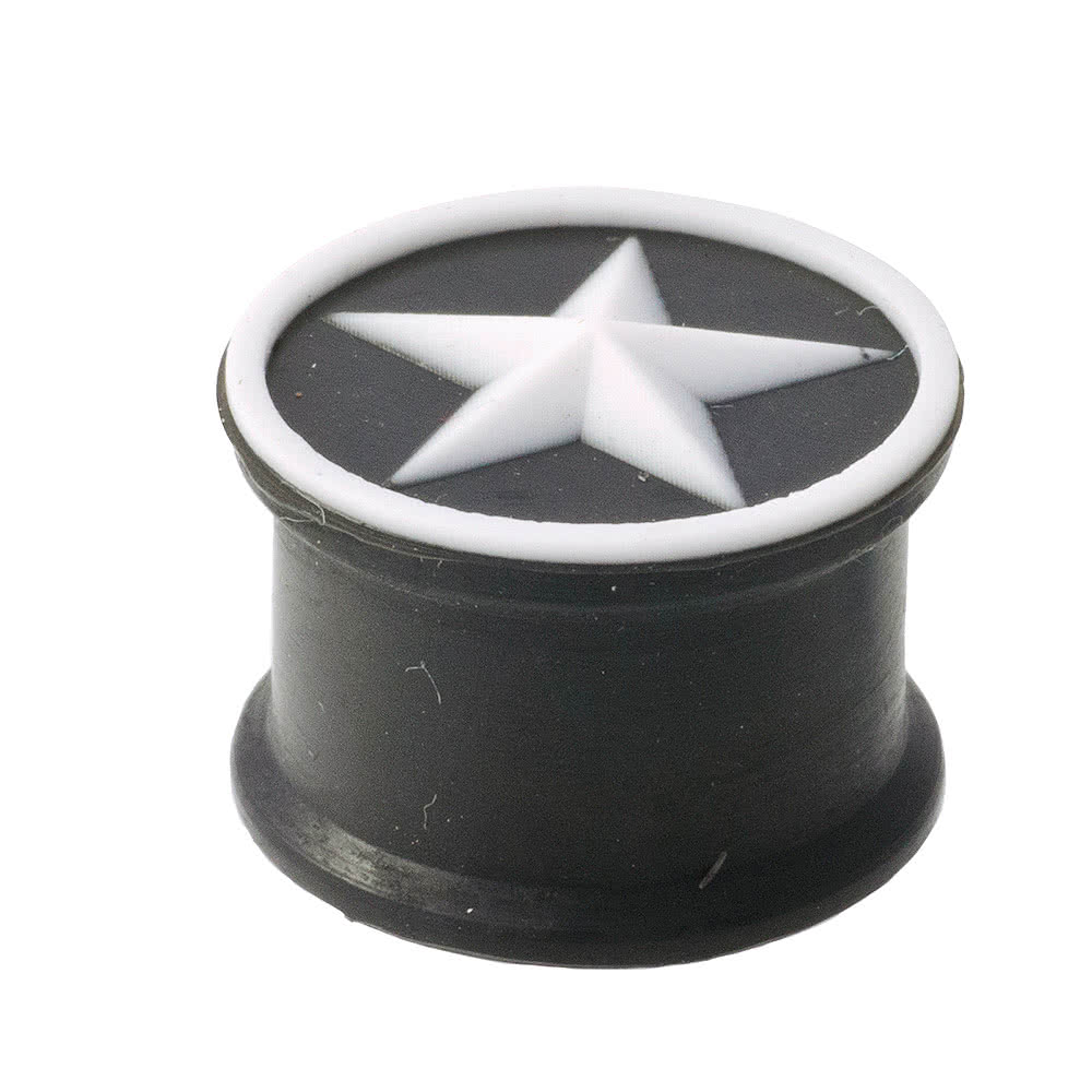Blue Banana Silicon Star Plug (Black/White)