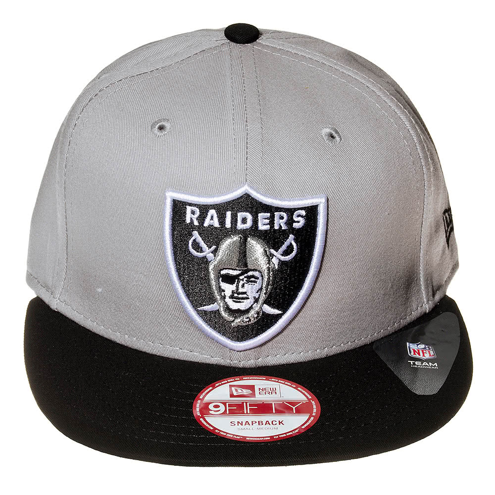 New Era Oakland Raiders Baseball Hat (Grey)