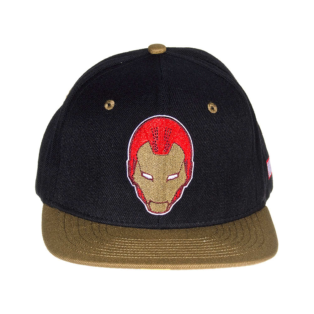Marvel Comics Iron Man Classic Cap (Black/Gold)
