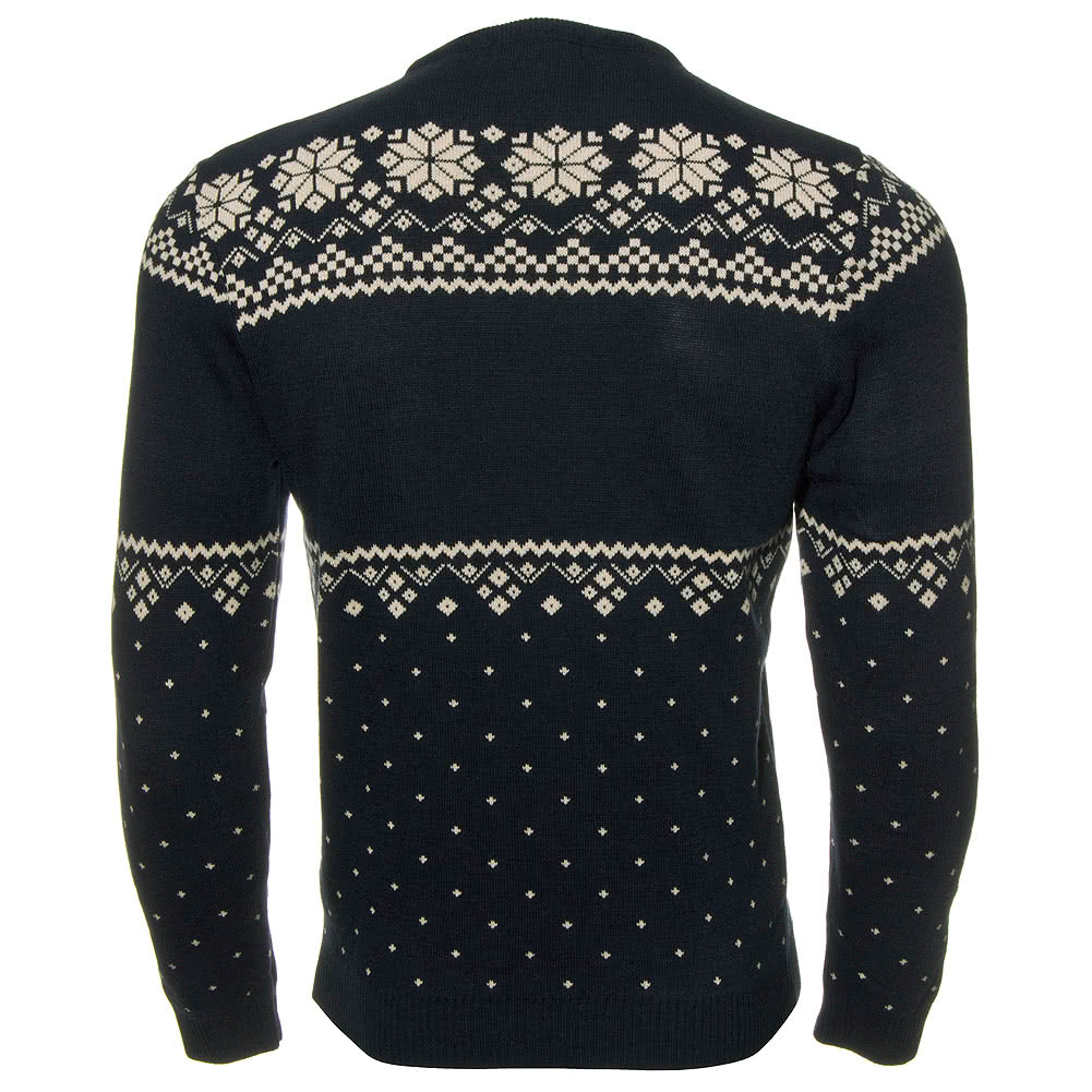 Gingerbread Man Jumper Knitting Pattern : Unisex Navy Blue Run & Fly Gingerbread Man Skiing Xmas Knitted Knitwear J...