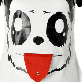 Killer Panda By Poizen Industries Lick Long Top (White)