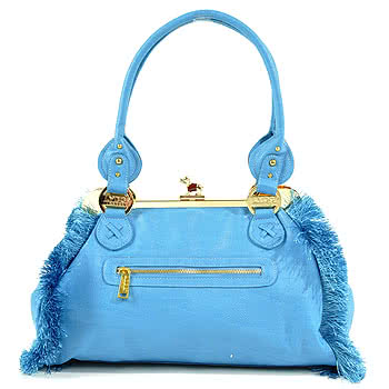 LYDC London Blue Fringe Bag