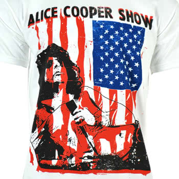 Alice Cooper Show Flag T Shirt (White)