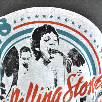 Rolling Stones Tour 82 Skinny Fit T Shirt (Grey)