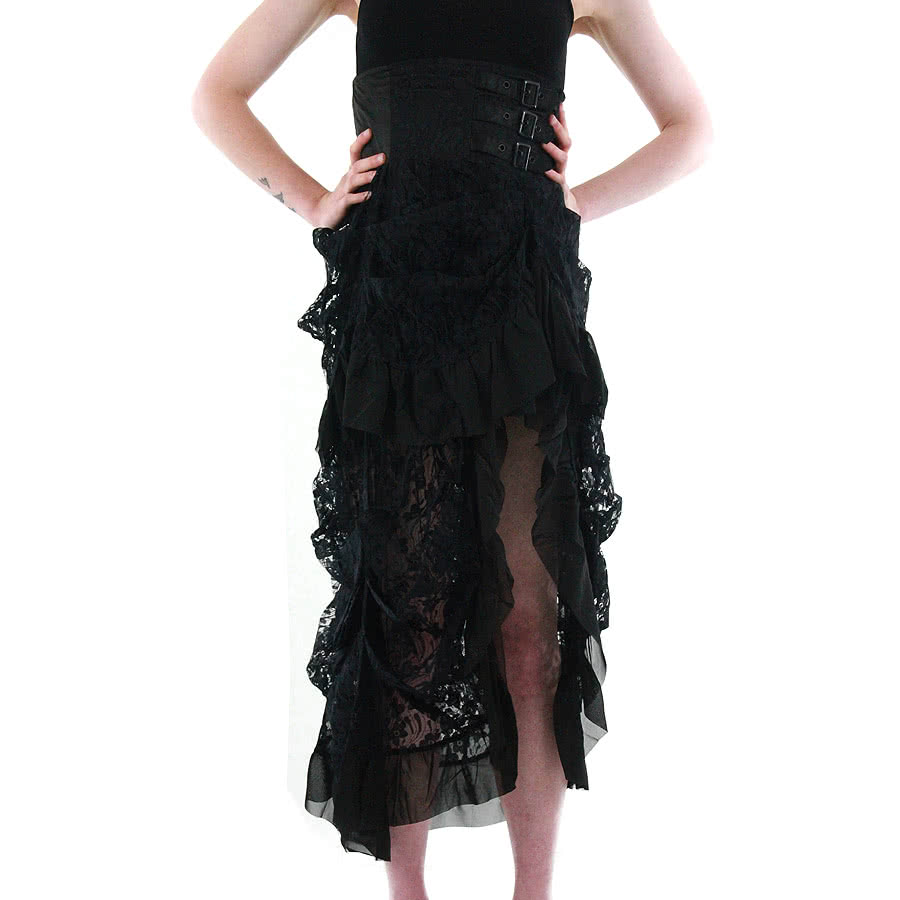 Banned Lace Corset Skirt (Black)
