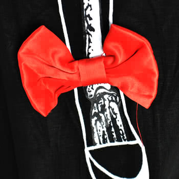 Banned Red Legs Bow Top (Black)