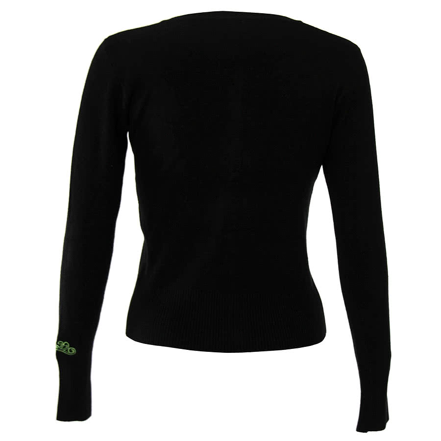 Banned Swallow Cardigan (Black/Green)