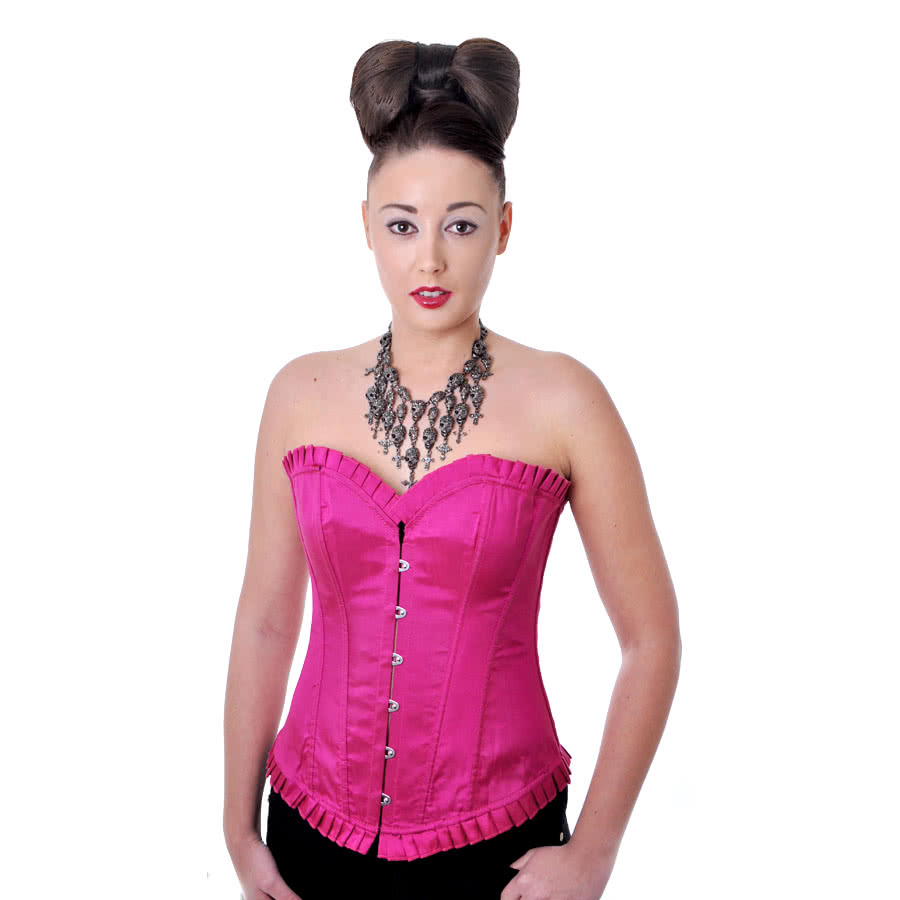 Bedroom Stories Satin Corset (Pink)