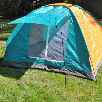 Blue Banana Branded Orange And Green Tent (4 Man)