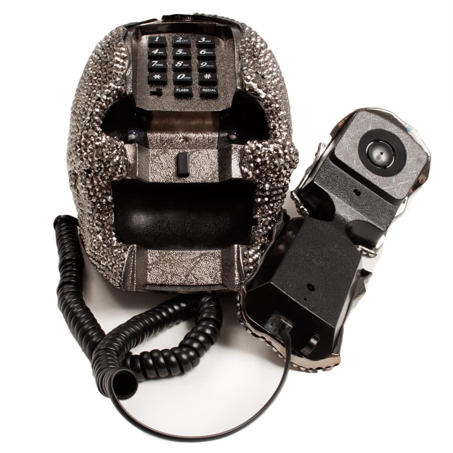 Blue Banana Crystal Skull Telephone (Black)