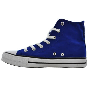 Blue Banana Canvas High Top Boots (Blue)
