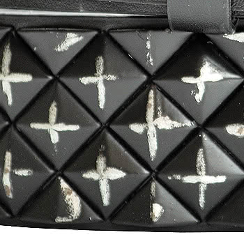 Blue Banana Distressed Triangle Studded Belt (Black)