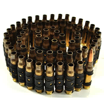 Half Bullet Brass Belt