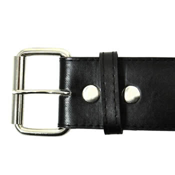 Blue Banana 3 Row Large Studded Belt (Black/Silver)