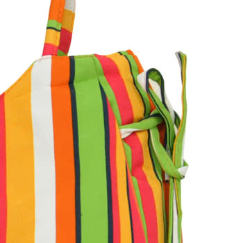 Blue Banana Multi Stripe Festival Bag (Multi-Coloured)