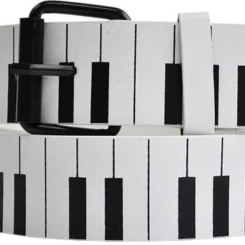 Blue Banana Piano Print Belt (White/Black)