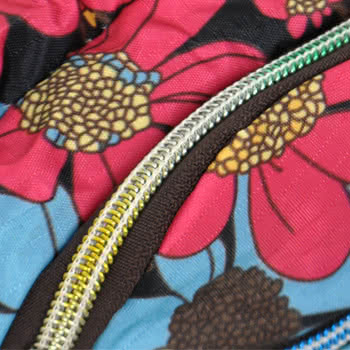 Blue Banana Flowers Large Bum Bag (Black/Pink)