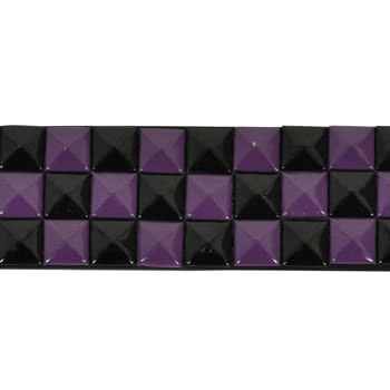 Blue Banana Studded Belt (Black/Purple)