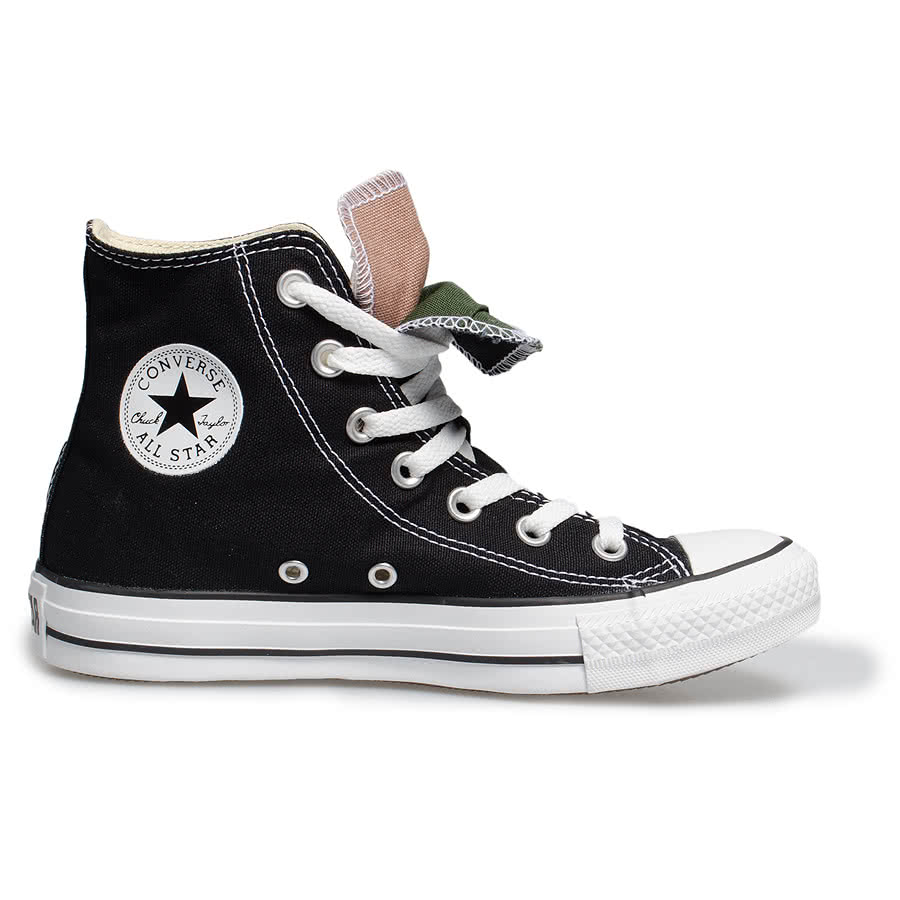 converse all boots black tongue high top