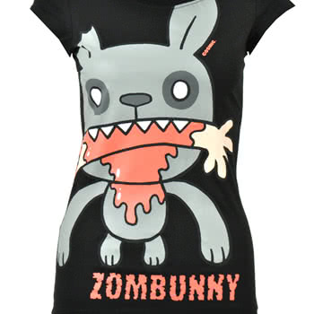 Cosmic Zombunny Skinny Fit T Shirt (Black)