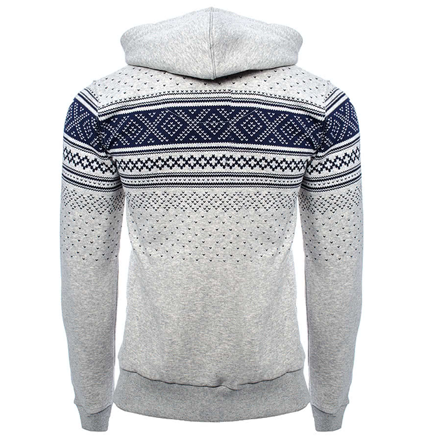 Criminal Damage Brick Hoodie (Grey/Navy)