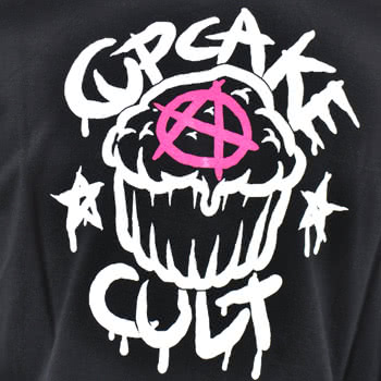 Cupcake Cult Street Art Skinny Fit T Shirt (Black)