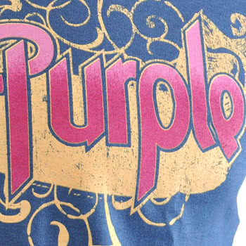 Deep Purple Ornated T Shirt (Purple)