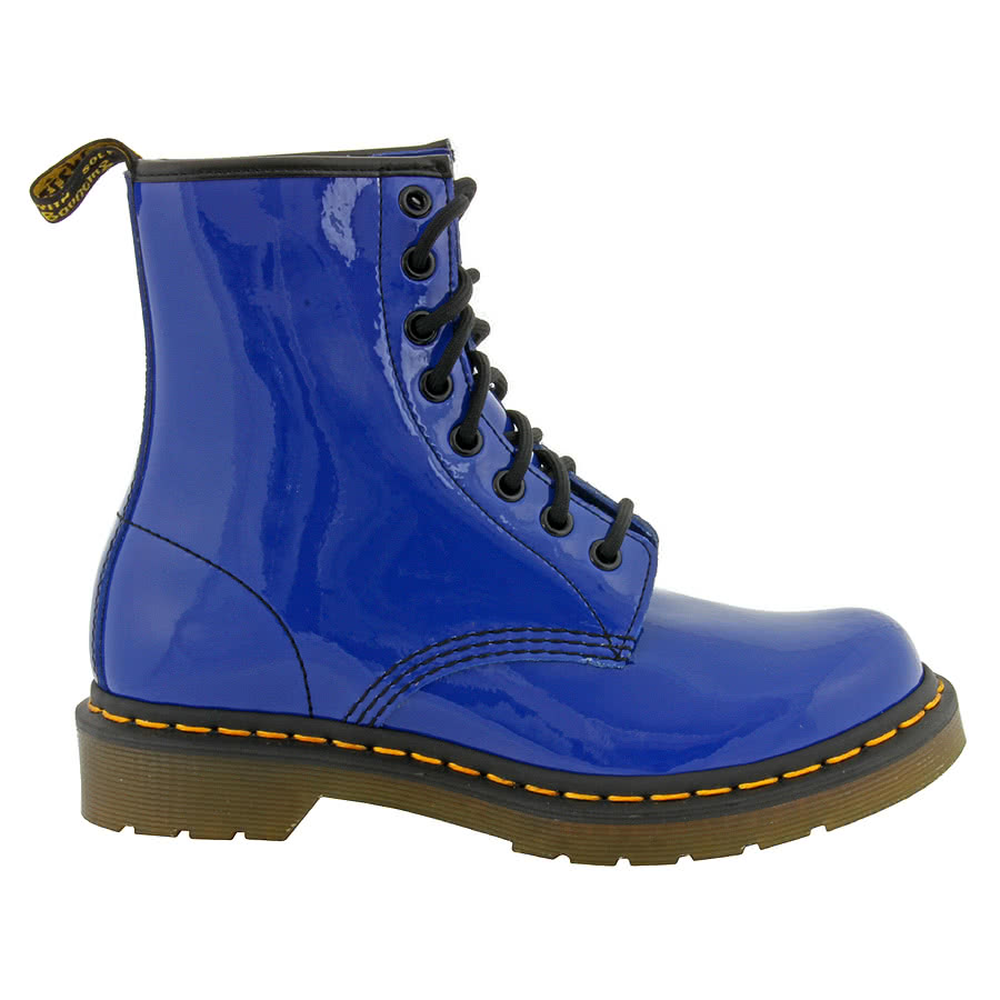 new dr doc martens ladies size 6 style 1460 blue leather boots patent lamper ebay. Black Bedroom Furniture Sets. Home Design Ideas