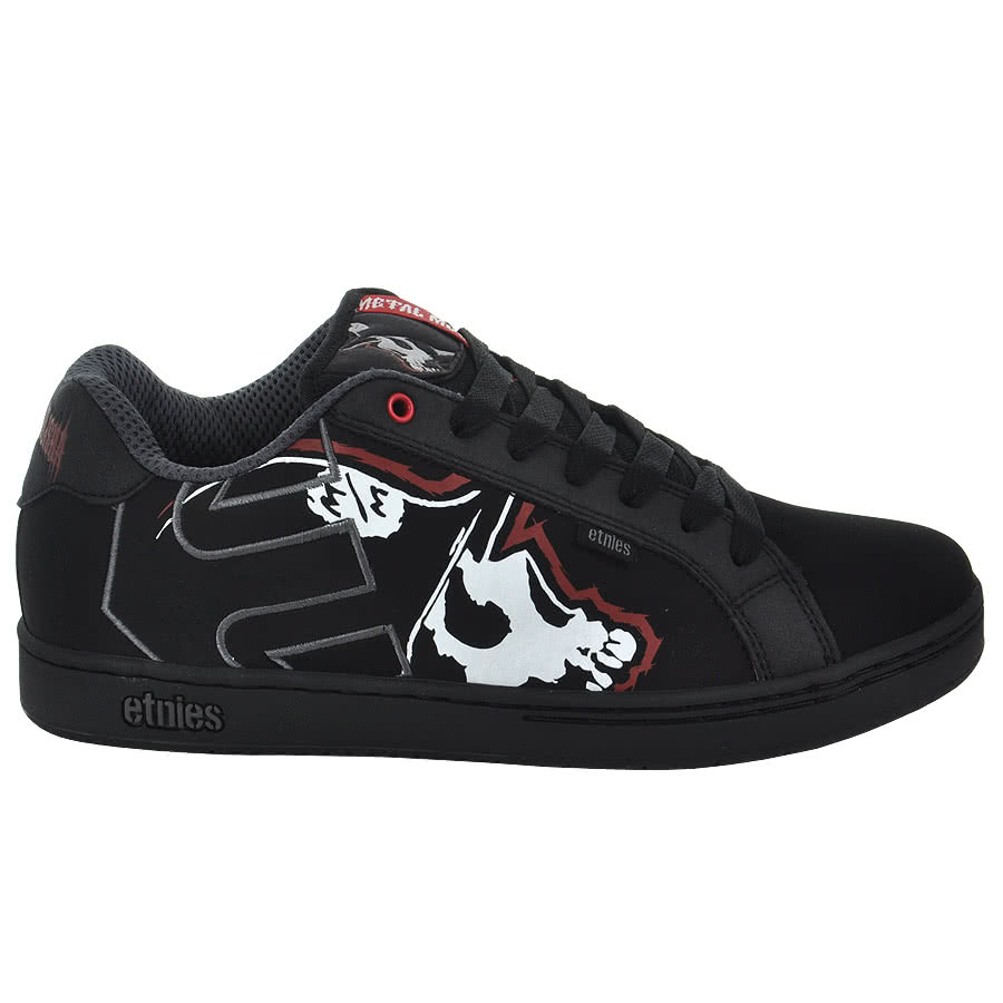 Etnies Metal Mulisha Fader Trainers (Black/Red)