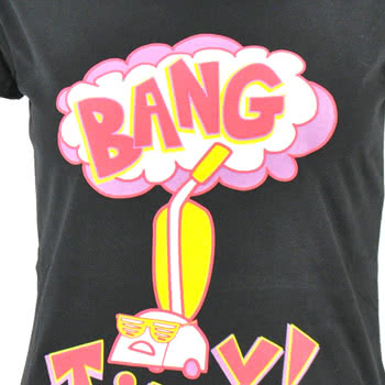 Flip Flop And Fangs Bang Tidy Skinny Fit T Shirt (Black)